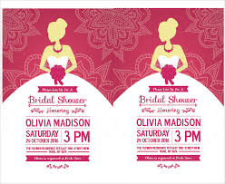 bridal invitation templates sle bridal shower invitation template 25 documents in pdf
