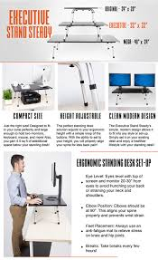 amazon com stand steady executive standing desk large surface
