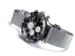 ceramic bracelet watches images Chronoliner watch with steel mesh bracelet breitling the jpg