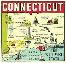 road map connecticut usa vintage connecticut nutmeg state map maps vintage