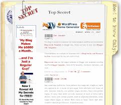 top secret eblog templates