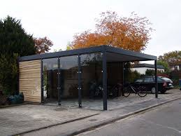 Attached Carport Designs by Design Metall Carport Aus Holz Glas Stahl Blech Mit Abstellraum