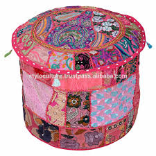 Basket Ottoman by Indian Embroidered Ottomans Indian Embroidered Ottomans Suppliers