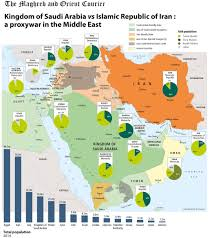 A Map Of The Middle East by Map Of Saudi And Iran Proxy War Business Insider