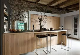 rustic modern kitchen design with bar idea for comfy look rustic