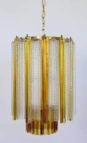 Amber Chandelier Tronchi U0026 Trilobi Murano Glass Chandelier From Venini 1960s For