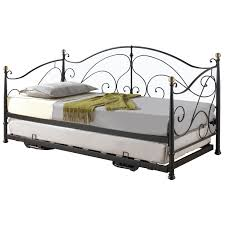great iron frame ikea bygland daybed with decorative bed sheet and