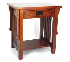 mission oak nightstand with drawers elegant and luxurious furniture