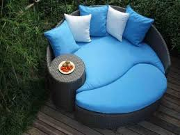 furniture round patio daybed design idea without canopy black