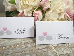 Table Place Cards by Wedding Place Cards Table Place Cards Love Birds Name Cards