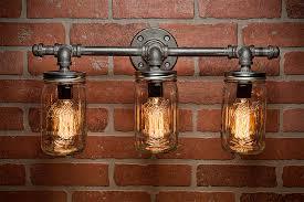 Rustic Vanity Lighting Mason Jar Light Fixture Industrial Light Light Rustic Light