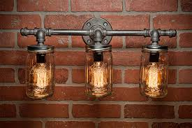 mason jar light fixture light light rustic light vanity light wall light wall sconce steampunk light free