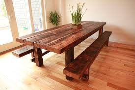 rustic dining room table with bench kitchen fabulous farmhouse table with bench rustic dining table