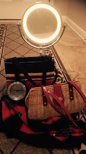 kate spade desk clock make up mirror with light kate spade tote bag worthington rattan