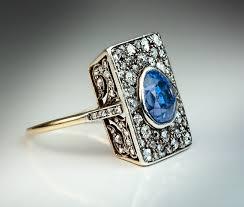 antique diamonds rings images Unusual antique 5 ct sapphire diamond ring antique jewelry jpg