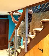 Stair Banister Installation Cable Railing Installation Tips Archives San Diego Cable Railings