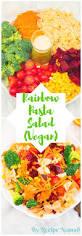 vegan colorful rainbow pasta salad recipe nomad