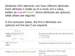 elements u0026 attributes there are different types of elements but