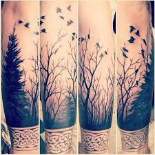true color of forest tree sleeve designs