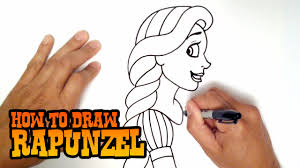 how to draw rapunzel step by step video youtube