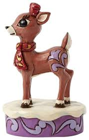 enesco jim shore rudolph red nosed reindeer clarice figurine