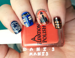 doctor who nail art for the 50th anniversary dani u0027s manis
