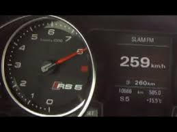 top speed audi s5 259 km h with audi rs5 top speed run