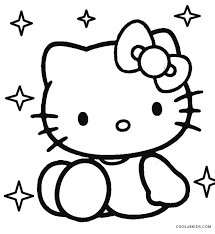 free printable kitty coloring pages pages cool2bkids