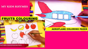 rat colouring kids aeroplane coloring pages fruits drawing