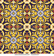 italian tiles pattern vector blue stock vector 615291527