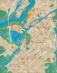 Metz France Map by Geoatlas City Maps Metz Map City Illustrator Fully