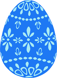 clipart blue lace easter egg