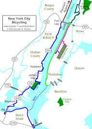 Overview Map Of New York City by New York City Bicycling Overview Map Large Size