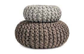 Knit Ottoman Pouf Flocks Pouf Knitted Seat Table Ottoman Or Purely Organic