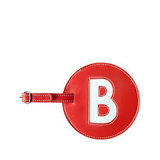 set of 2 single initial luggage tags 7690569 hsn
