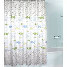 Multi Color Shower Curtains Cute Kids Favorite Fish And Bubbles Shower Curtain Buy Multi