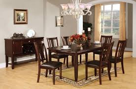 furniture of america edgewood i 7 piece dining table chairs set