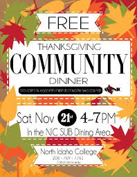 nic offers free thanksgiving dinner for coeur d alene area the