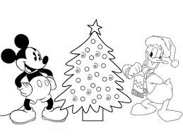 disney coloring pages mickey mouse and donald duck make christmas
