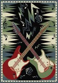 Guitar Area Rug Dueling Guitars Area Rug Cool Electric Guitar Theme Rug