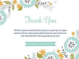 thank you card for wedding gift wedding thank you smilebox