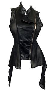 leather apparel evogues apparel plus size sleeveless sheer and faux leather panel