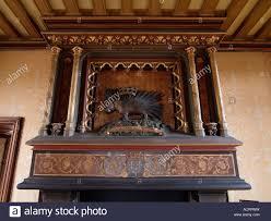 porcupine royal symbol of louis xii above the fireplace chateau de