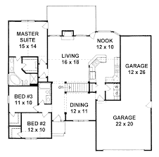 ranch style house plan 3 beds 2 00 baths 1645 sq ft plan 58 181