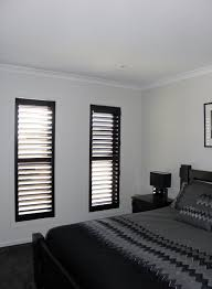black plantation shutters by roselea blinds www roseleablinds com
