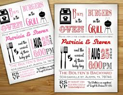baby shower invitations couples baby shower bbq invitations ideas