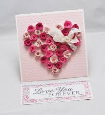 rose heart easel card with matching gift box papercrafting
