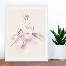 ballet dancer watercolour art print by green lili