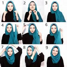 tutorial jilbab segi 4 untuk kebaya 25 kreasi tutorial hijab paris simple terbaru 2018