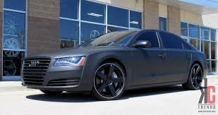 audi s8 matte black kc trends showcase 22 dropstars ds644b on a 2013 matte black